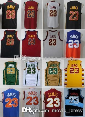 new arrival fcc83 73cdc NCAA Cleveland #23 LeBron James Jerseys Cavaliers Men St. Vincent Mary High  School Irish,Movie TUNESQUAD Blue White Green Brown Red Black
