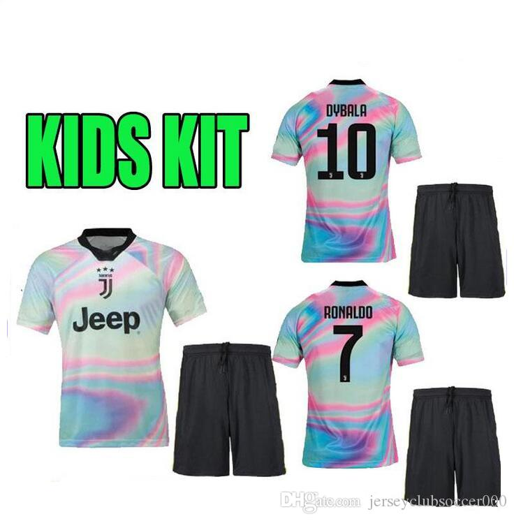 best service 6ecaa 23ede #7 RONALDO JUVEN home third Kit boys Kids Soccer Jersey 18 19 DYBALA EA  SPORTS JERSEY MANDZUKIC Football Shirt