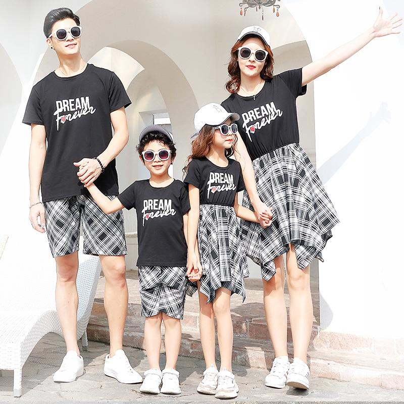 3e4880a38f Family Matching Clothes Plaid Mother Daughter Dresses Mommy And Me Clothes  Family Look Outfit Mom Mum Baby Dress Clothing Summer Matching Outfits For  Family ...