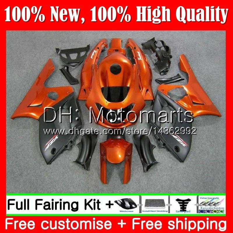 Cuerpo Naranja negro Para YAMAHA YZF600R Thundercat 96 97 98 99 00 01 86MT22 YZF-600R YZF 600R 1996 1997 1998 1999 2000 2001 Carenado Carrocería
