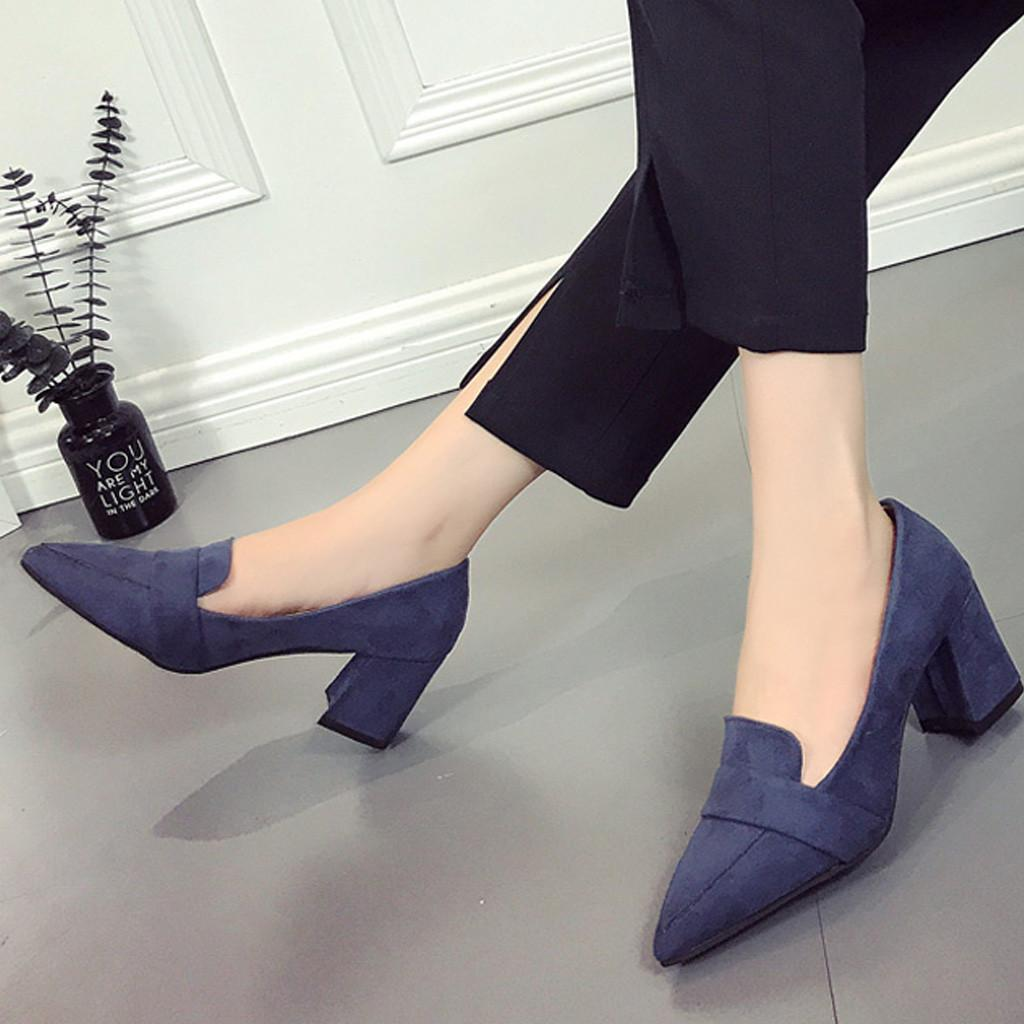 951e6908b52 Shoes Youyedian 2019 Women S Pointed Wild Shallow Mouth High Heeled Single Ladies  Zapatos De Mujer Para Fiesta  g30 Slippers For Men Loafer Shoes From Deal1  ...