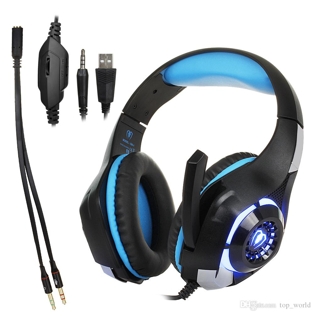 Bexcellent GM1 Gaming Headphone Best cesque Computer Deep Bass Game Earphone Headsets with Mic LED Light for PC Gamer