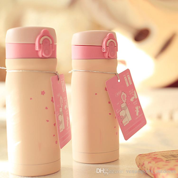 water bottle stainless steel tumbler Goddess romantic cherry blossom stainless steel mug Popping cup with cups