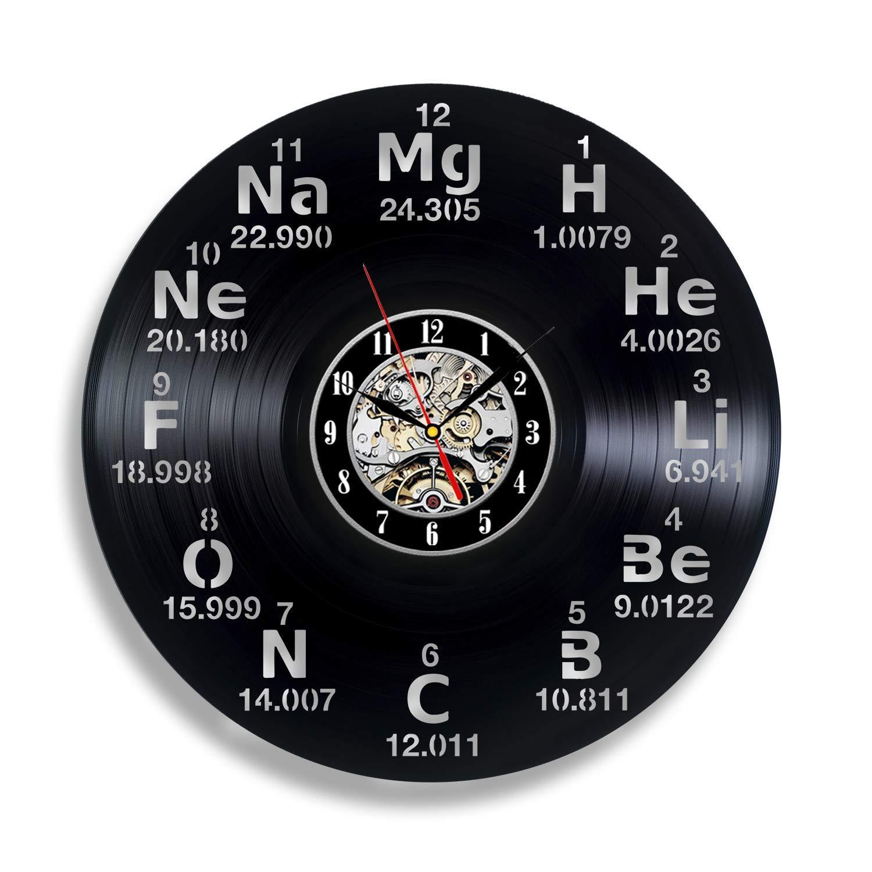 a573bd72fa6d Compre Química Ciencia Tabla Periódica Círculo Vinilo Reloj De Pared ...