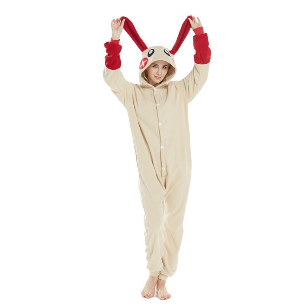 2475ce723b358 Acheter Drôle Polaire Lapin Épissage Kigurumi Beige Cosplay Onesie Costume  Pyjama Lapin Adulte Halloween Carnaval Partie Jumpsuit De  26.06 Du Home5  ...
