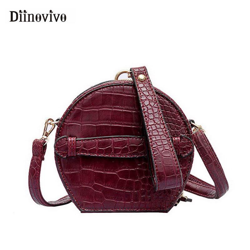 46ac37442be3 DIINOVIVO 2019 New Small Round Bag Women Designer Handbag Fashion ...