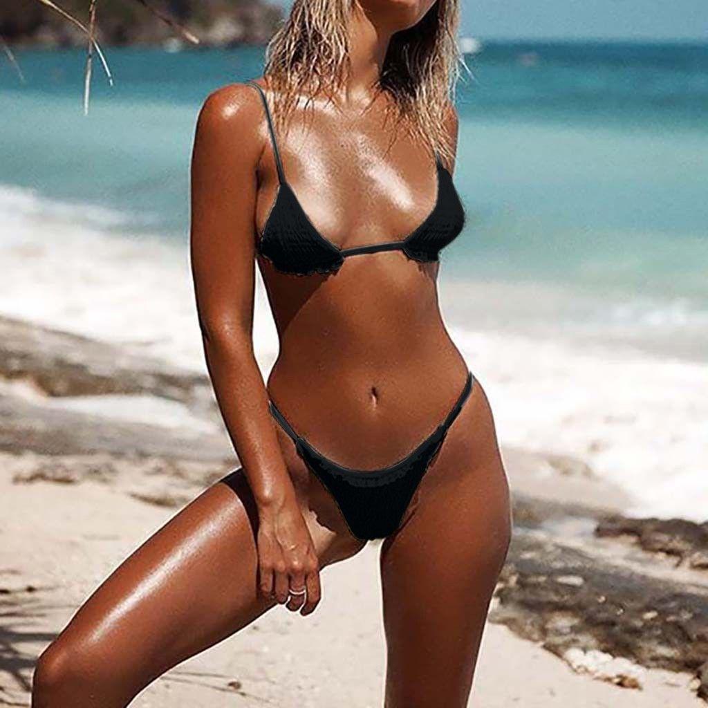 1a481629cd1 2019 Bikini High Cut Micro Bikini 2019 New Bathing Suit Sexy Female Swimsuit  Separate Push Up Triangle Swimwear Women Bathers Biquini From Nothing2, ...