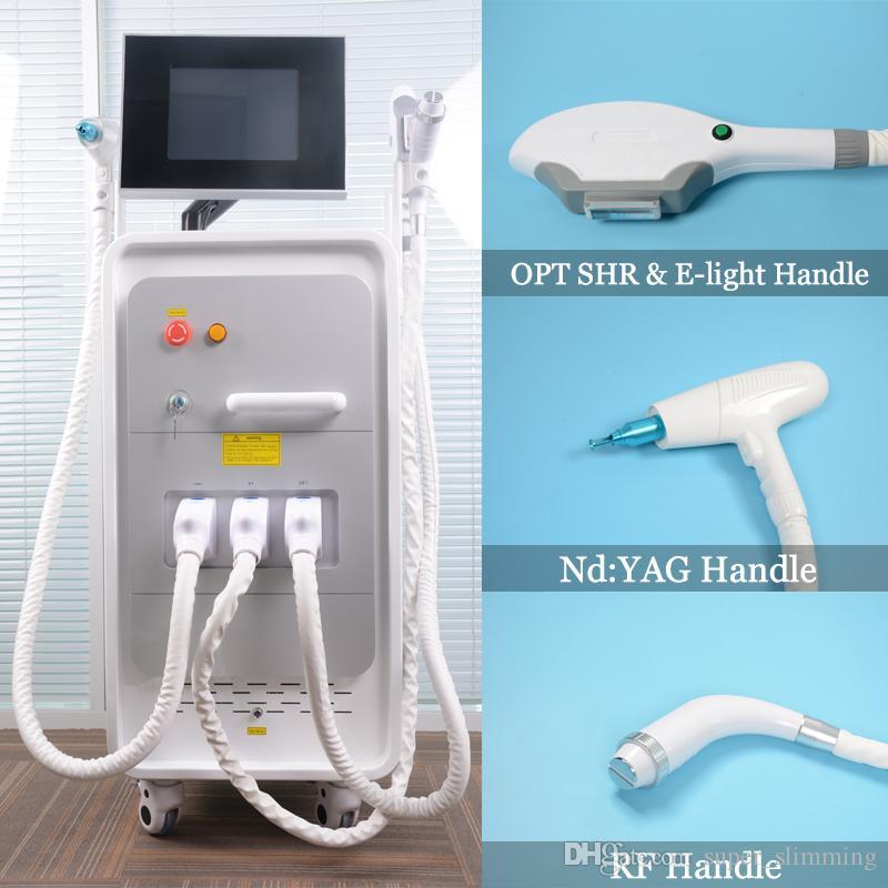 IPL-Hausausrüstung Fast Haarentfernungsgerät EIGIGHT-Hautverjüngung ND YAG-Laser-Tätowierungsausrüstung