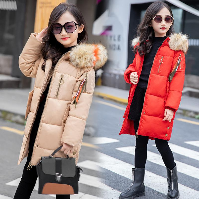 a178e76885b8 Russian Kids Parkas Hooded Coat Children s WinterJackets Warm Down  Cotton-padded Girl clothes Children Outerwear Thick Overcoat