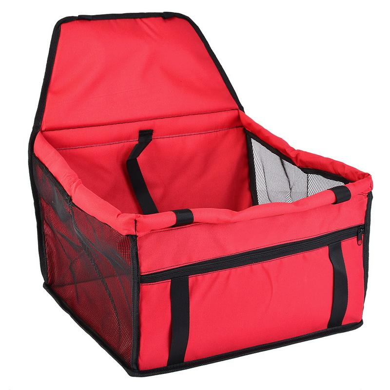 Oxford Waterproof Pet Dog Carrier Pad Safe Carry House Folding Cat Puppy Bag Dog Car Seat 40x30x25cm Dog Seat Bag Basket Pet Products