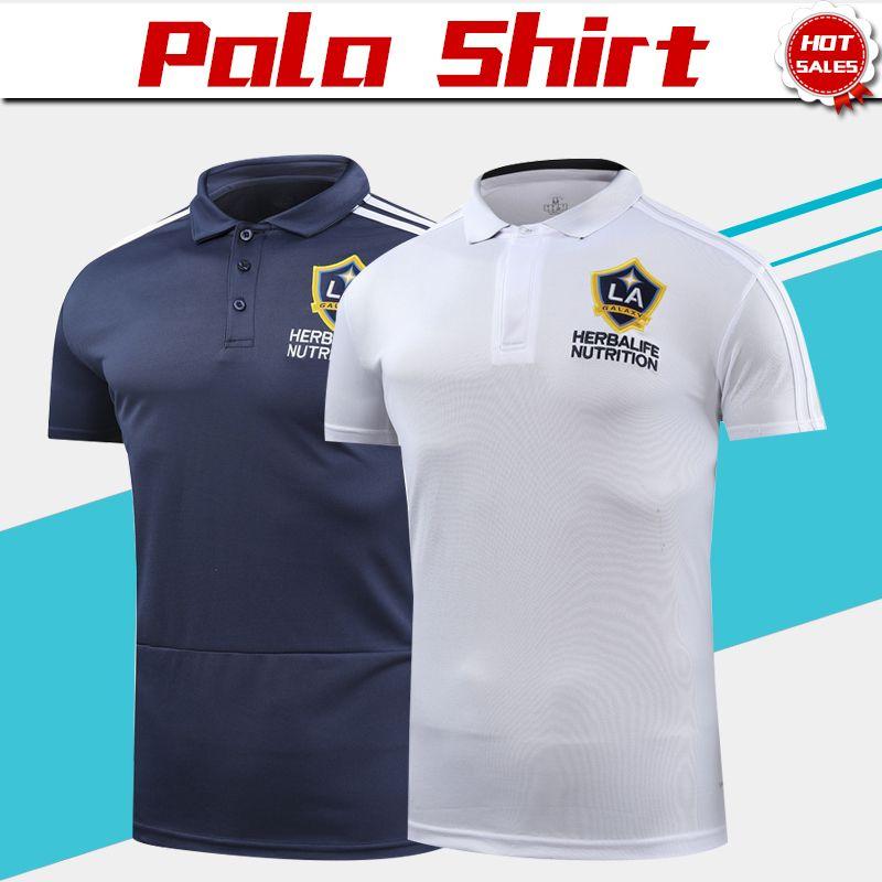 2019 Los Angeles Galaxy Polo Camiseta De Fútbol Blanca 18 19 Galaxy Soccer  Polo Uniformes De Fútbol Camisetas Deportivas Azules Por Xctc5320 c2da5b3d8b87c