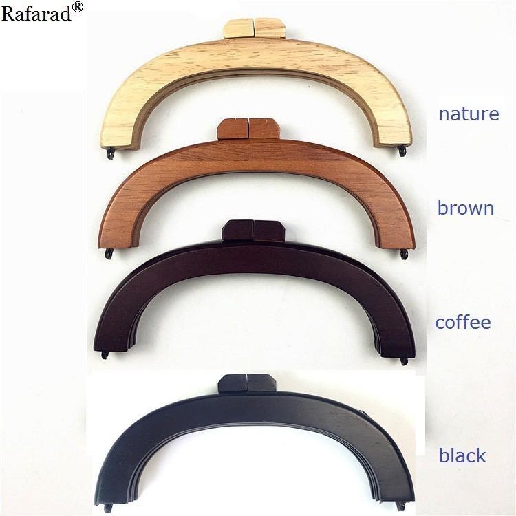 Fashion Wooden Purse Frame Wood Clutch O Mini Bag Handles Parts Handle Accessories Wooden Purse Handle Diy Frame