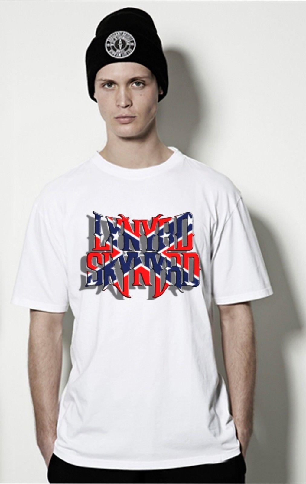 New Top Banner Lynyrd55 Skynyrd55 Logo Classic Rock Band T Shirt