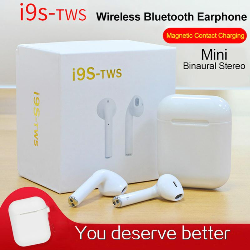 bf2cf7a3bbc I9S I7s I8X TWS Bluetooth Wireless Earphones Mini Headphone Ifans Stereo  Music In Ear Air Headset Pods For IPhone Android PC Headsets For Cell  Phones Phone ...