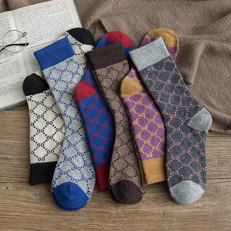 mens women designer socks socking autumn and winter new Women's socks ladies in stockings color micro velvet fashion sock