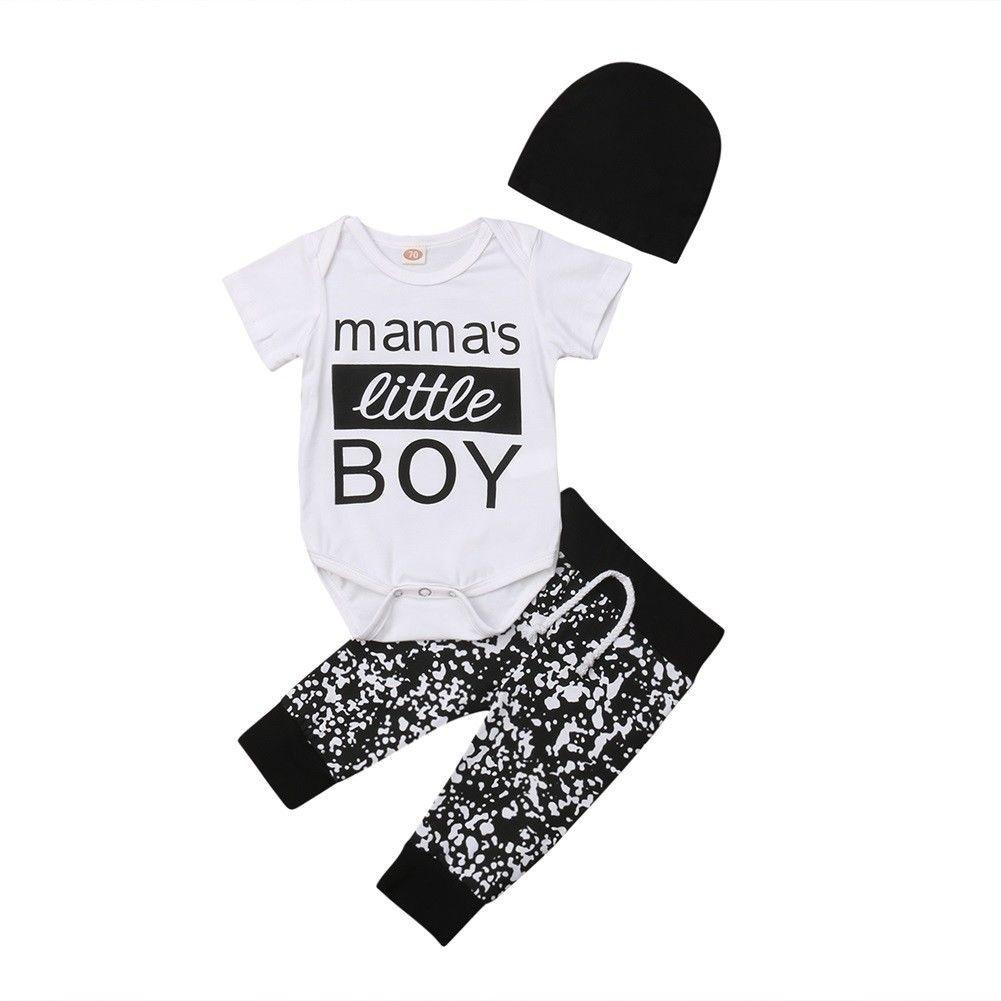 615186d97 2019 Newborn Kid Baby Boy Clothes Jumpsuit Short Sleeve Romper Pants ...