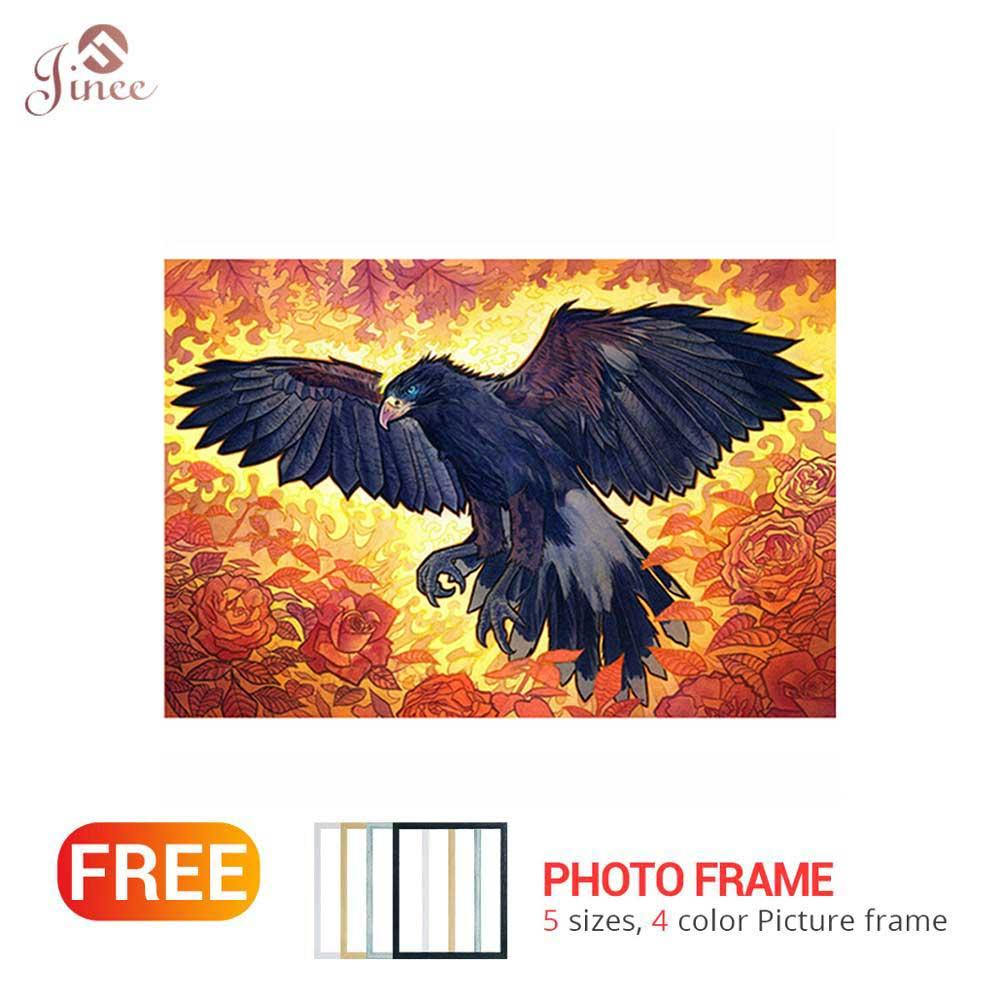 l Square/Round Drill 5D DIY Diamond Painting Animal Eagle 3D Embroidery Cross Stitch 5D Home Decor Gift
