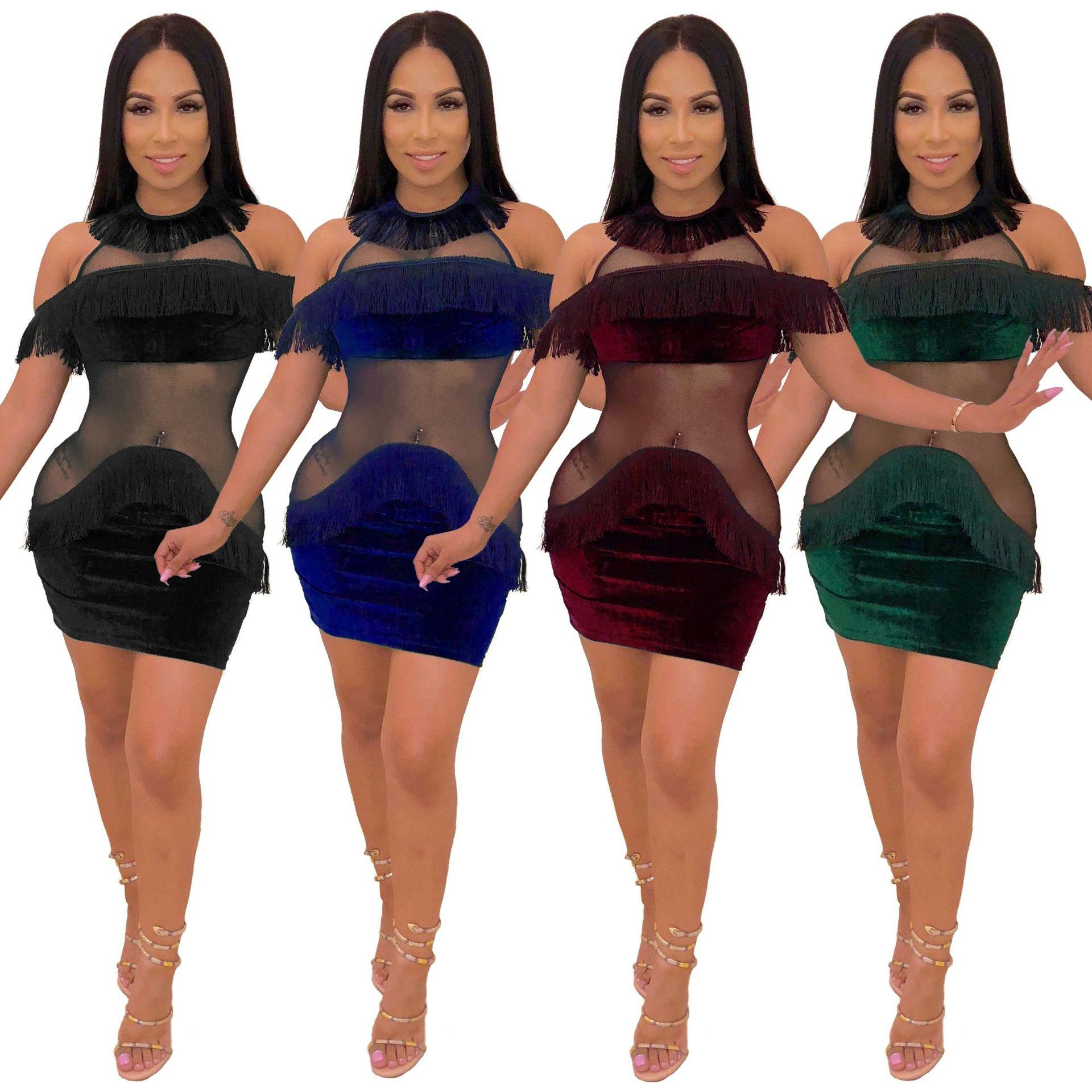 94095f266 Discoteca sexy para mujer Minifaldas transparentes