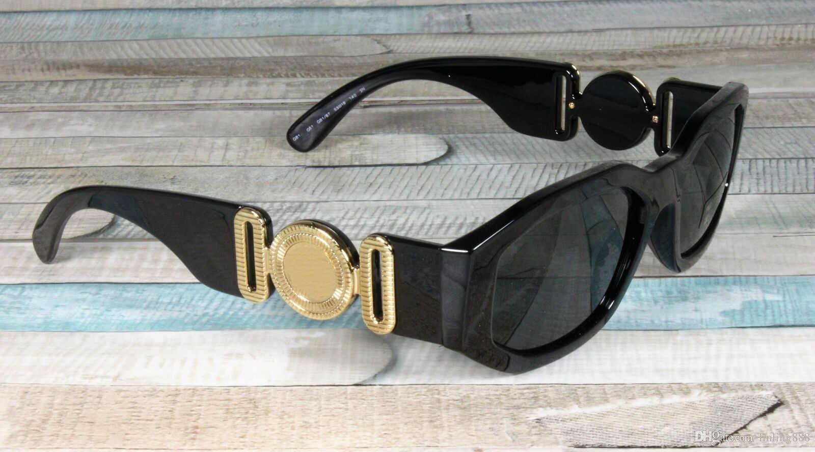 4361 GB1 / 87 Preto / Mens Grey Sunglasses 53 milímetros Unisex óculos escuros de grife de luxo óculos de sol marca de moda para homens Mulher dos vidros