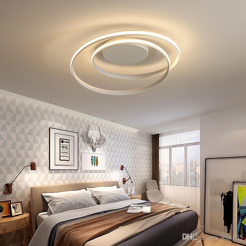 2019 Plafoniere lustre Lampada a LED per soggiorno Camera da letto Sala  studio Home Deco AC85-265V Moderna MING