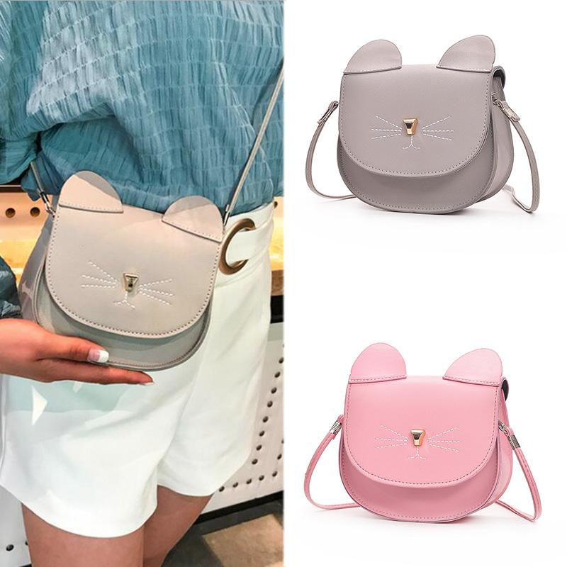 6d1ec5c4c6 Woman Mini Shoulder Bag Pu Leather Cute Cat Ears Handbag Lady Girl Travel Messenger  Crossbody Bags Fa 3 Women Bag Online with  33.01 Piece on Brandgood03 s ...