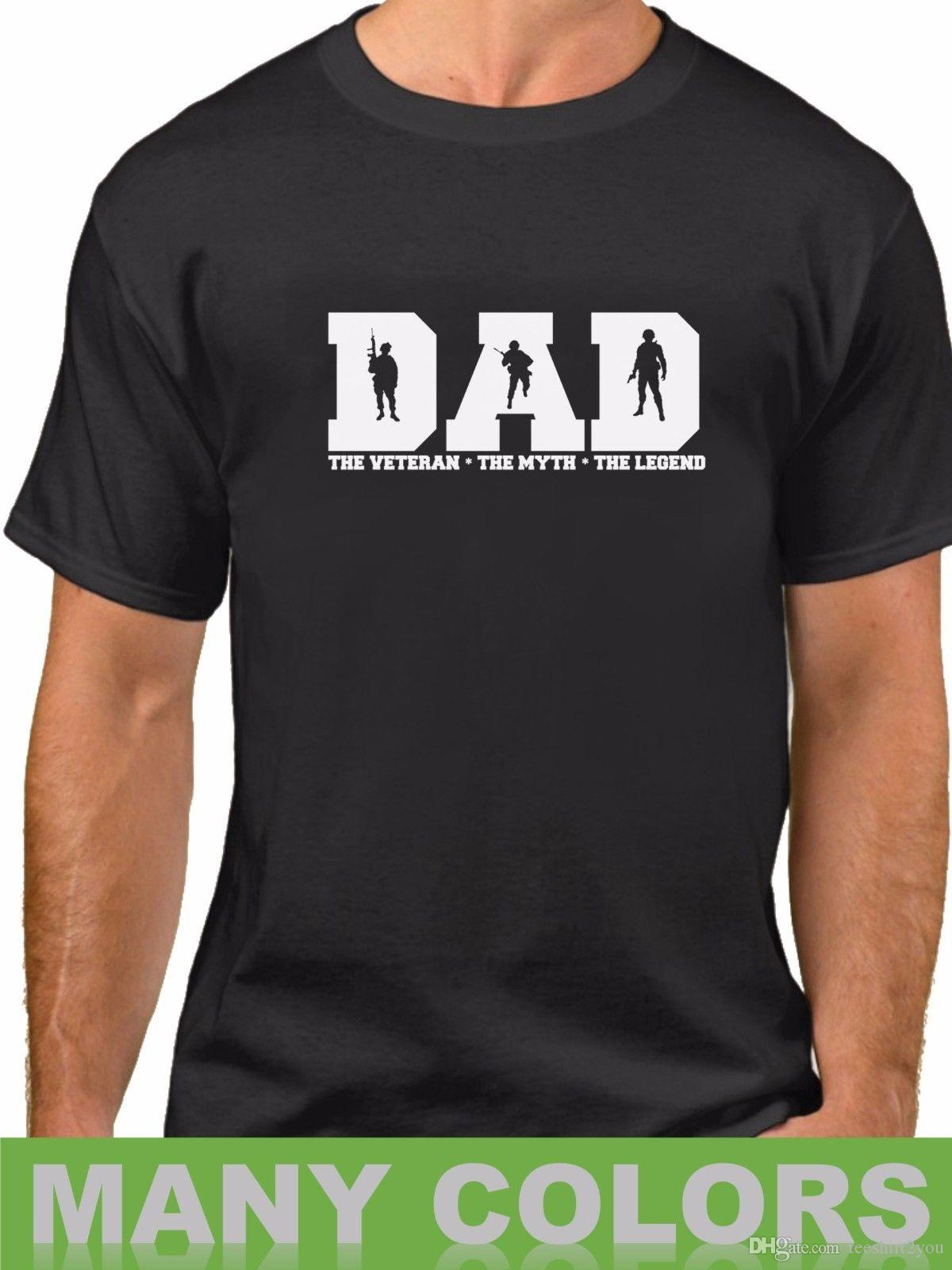 644025a8 Dad The Veteran Myth Legend Shirt Champs Usa Soldier Veterans Day Fathers  Day T Shirt Short Sleeve Custom Tshirt Men New Style Hot Sale Cott Skull T  Shirts ...