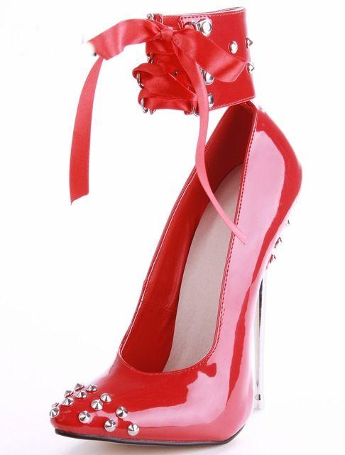 Acheter 16cm Cristal Métal À Talons Hauts Bout Pointu Femmes Pompes  Chaussures De Luxe À Lacets Battre Qualité Cheville Sexy Noir   Rouge    Violet De  93.47 ... f5fbddeca2be