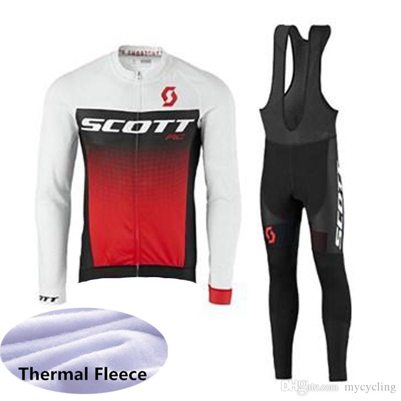 Compre 2018 Venda Quente Scott Inverno Térmica De Lã Ciclismo Jersey Homens  Terno De Manga Longa Mtb Bicicleta Clothing Roadwear Sportswear 112002y De  ... dc8a2539fa31c