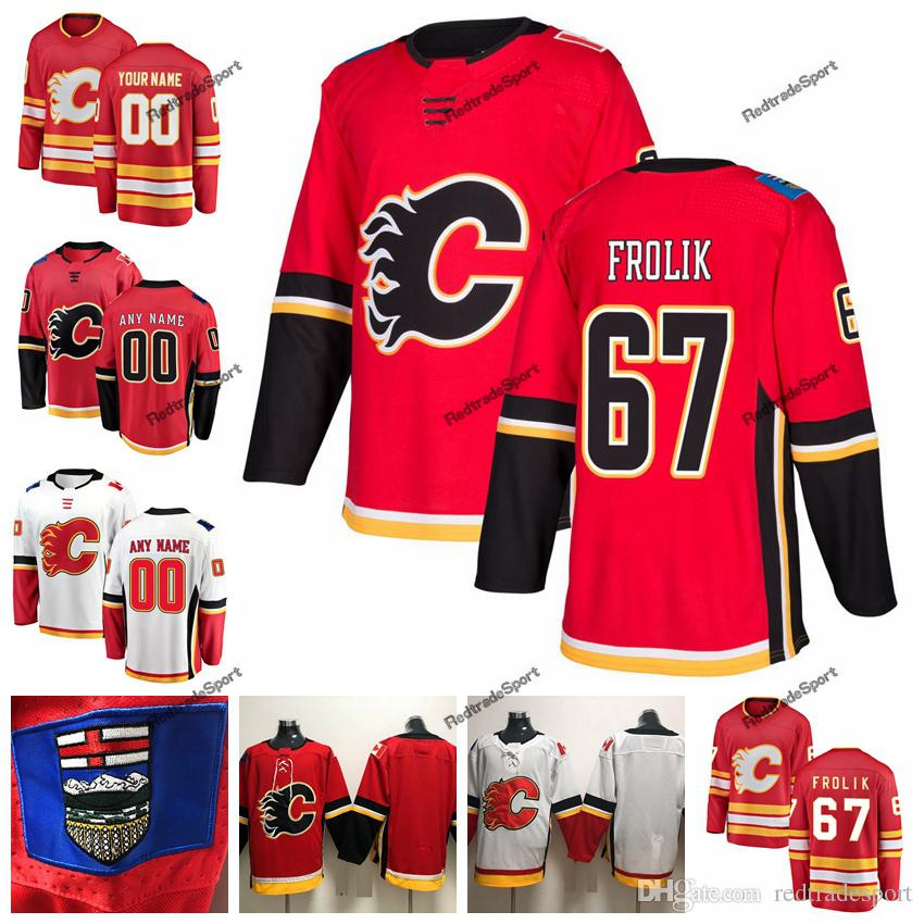 new arrive a8565 38bf2 2019 Michael Frolik Calgary Flames Hockey Jerseys Customize Name Alternate  Red #67 Michael Frolik Stitched Hockey Shirts S-XXXL