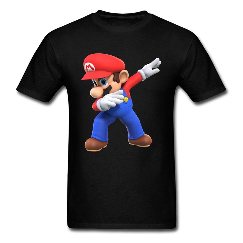 Verano Al Hombres Tops De Ropa Algodón Impresa Camisetas 3d Bros Negro Mayor Super Mario Divertida 2018 Camiseta Dabbing Por CxBdoe
