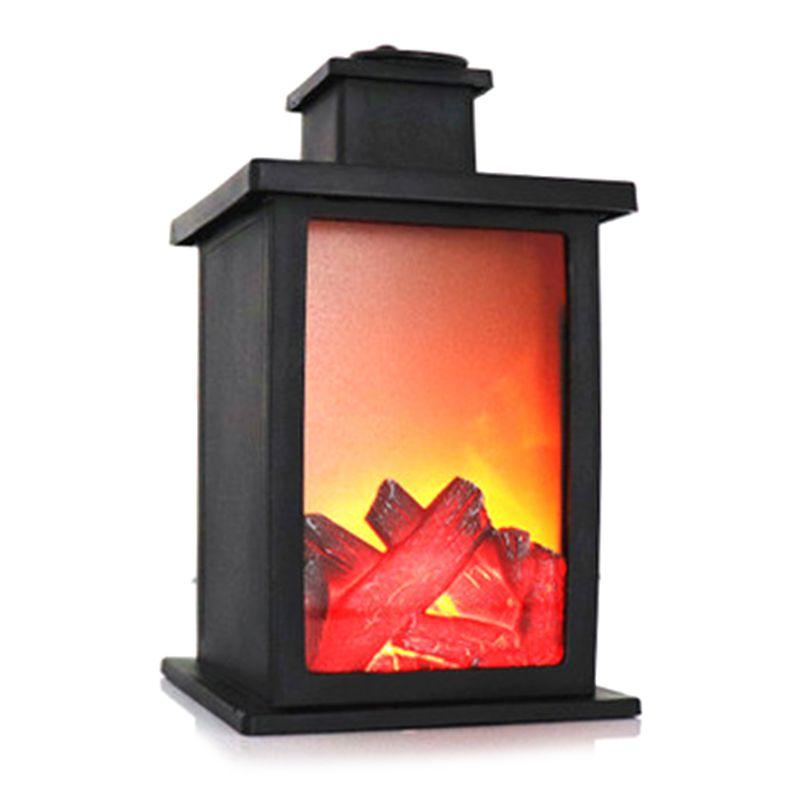 Flame Effect Led Light Decorative Table Lamp Portable Nightlight Battery Operated