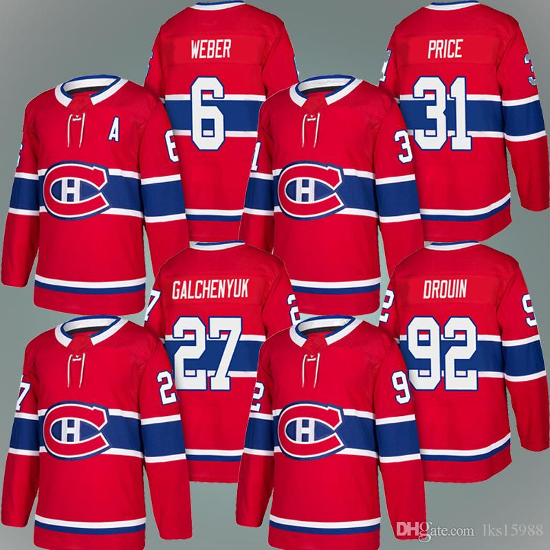 2019 Cheap Montreal Canadiens Jersey 6 Shea Weber Jersey 31 Carey Price 27  Alex Galchenyuk 92 Jonathan Drouin 67 Max Pacioretty From Lks15988 ed9783ba519