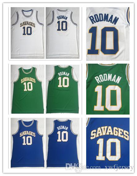 online store 0af7d b230a The Worm Dennis Jersey Oklahoma Savages 10 Rodman Jersey 100% Stitched  Basketball Sports Shirt Wholesale Top Quality Newest Version S-2XL