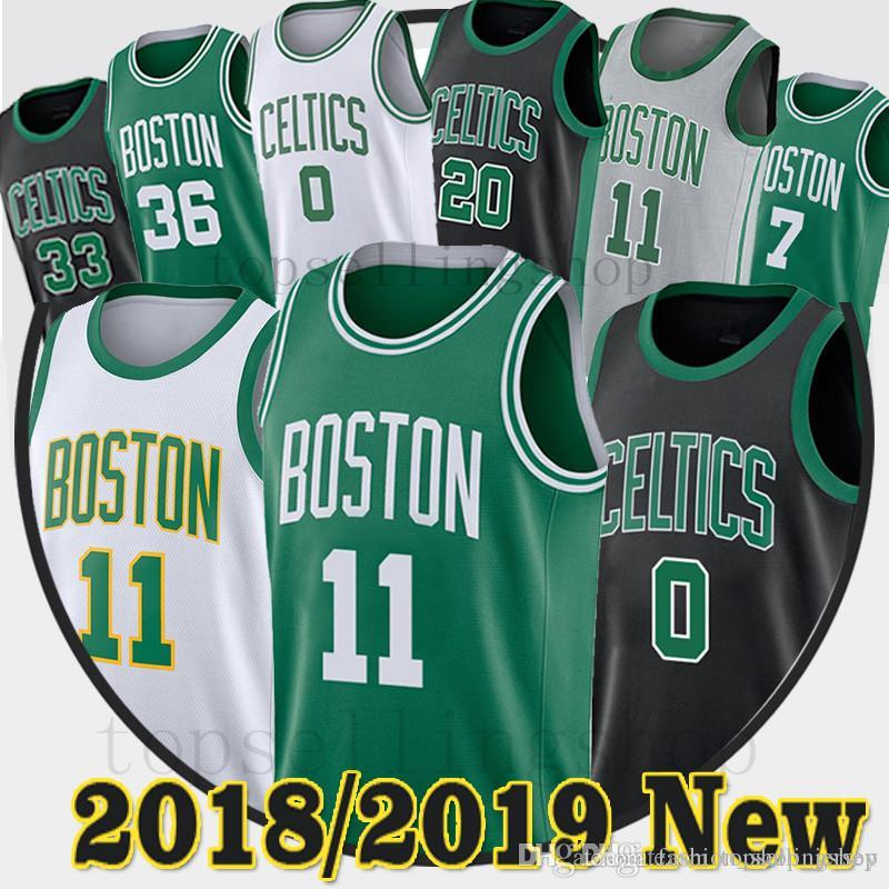 b7248cad5 ... wholesale 2019 11 kyrie irving jersey men city celtics jerseys 0 jayson  tatum boston 20 gordon low price al horford boston celtics icon swingman ...