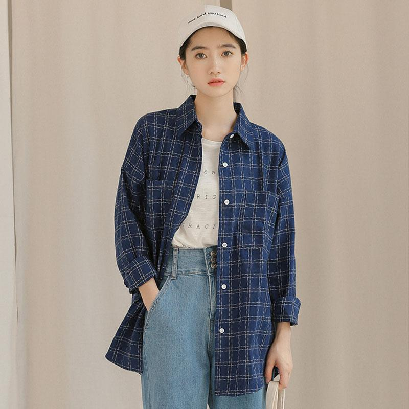 905770138e9 2019 2019 Spring New Women Shirts Korean Boyfriend Style Striped Long  Sleeve Loose Blouses Female Casual Blusas Tops From Griseldala