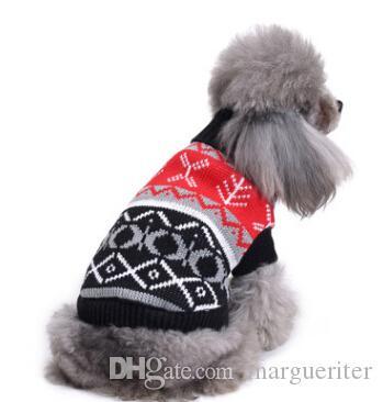 Christmas Pet Costumes.Christmas Pet Costumes Dog Turtleneck Sweater Winter Warm Dog Snowflake Reindeer Sweaters Xmas Puppy Teddy Coat