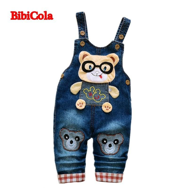 abfcacab5ca7 Good Quality Spring Autumn Boys Overall Jeans Clothes Kids Trousers Toddler  Denim Overall Trousers Children Cartoon Infant Bib Jeans Baby Suspender  Pants ...