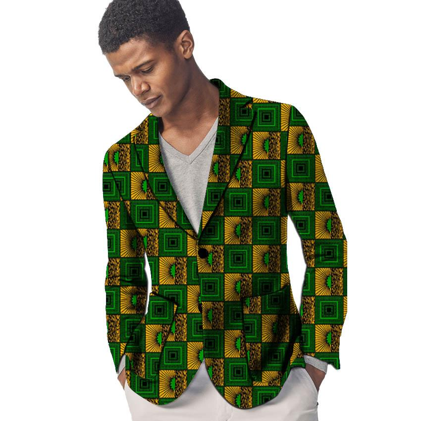 get cheap dc48a 5410f Afrikanische Kleidung Herren Print Blazer Ankara Muster Slim Fit Anzugjacke  männliche Blazer Casual Männer Mantel Plus Size