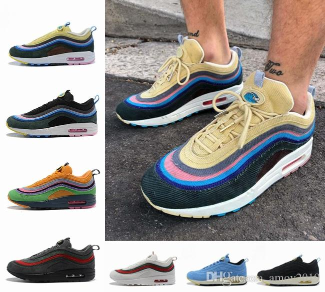 2019 airmax air max 97 Diseñador Sean Wotherspoon 97s OG Undefeated Ultra Cushion Running Shoes Silver Bullet para mujer para hombre Zapatillas