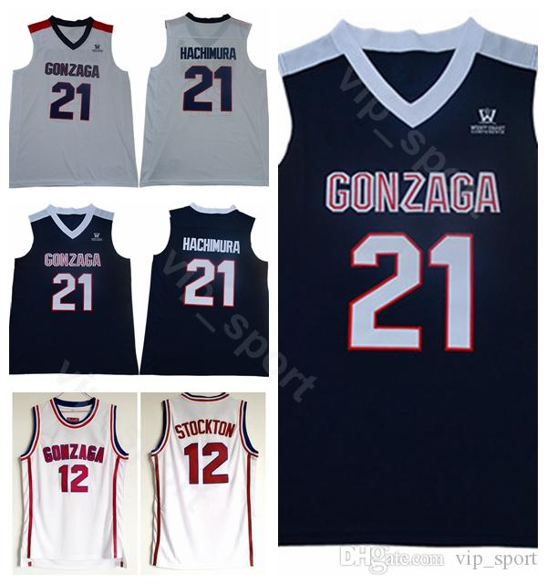 638aae8f5937 College 21 Rui Hachimura Basketball Gonzaga Bulldogs Jerseys John Stockton  12 High School Navy Blue Away White All Stiched High Quality Rui Hachimura  Jersey ...