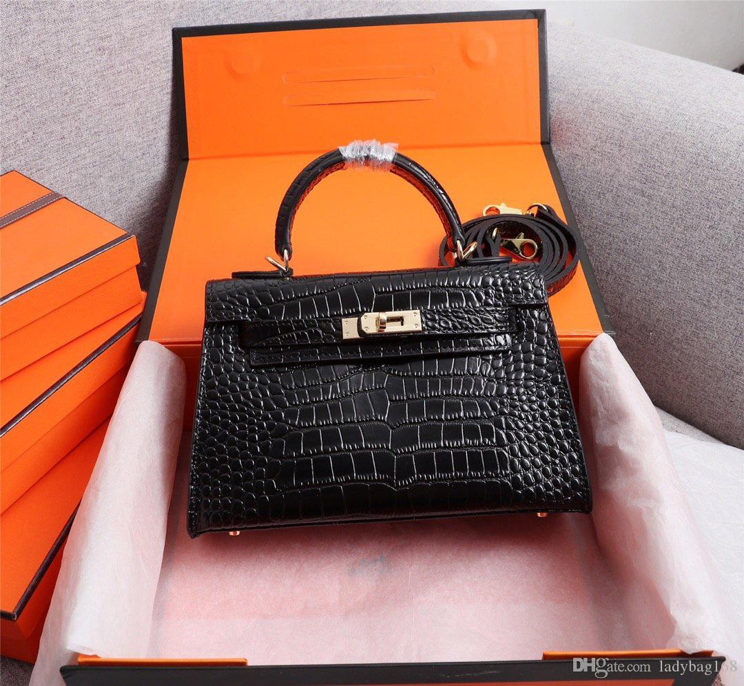 Классические дизайнерские женские сумки наплечные сумки мини ремень Crossbody высокое качество натуральная кожа Крокодил шаблон сумки бесплатная доставка 22 см