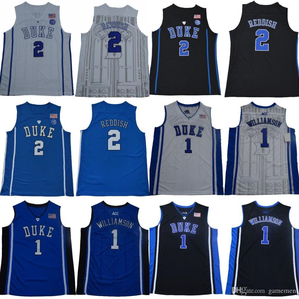 2019 NCAA 2 Reddish Royal 5 RJ Barrett 1 Zion Williamson Duke Blue Devils  ACC Jersey Black White Blue Men College Basketball Stitched Jersey From  Gamemen 68d129b1a