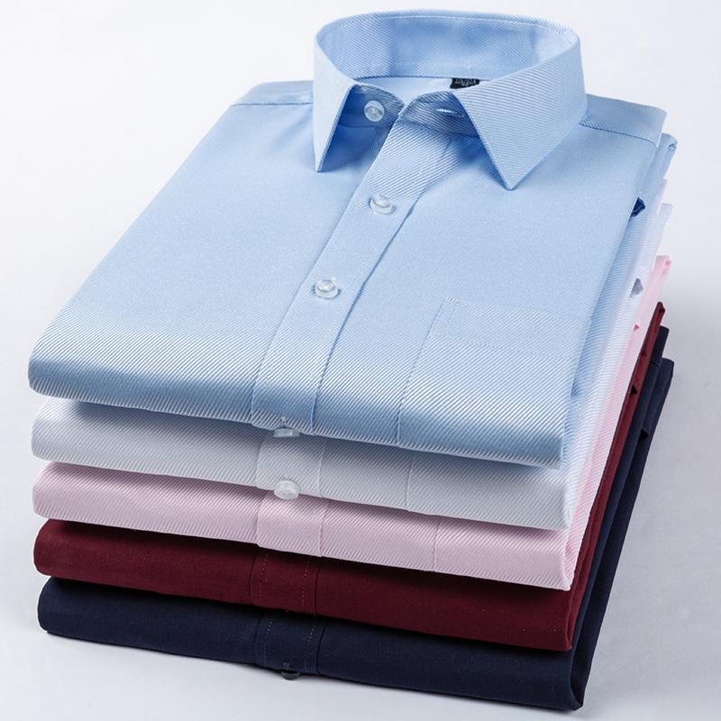 Long Sleeved soft Comfortable working shirts pure colour mans shirt