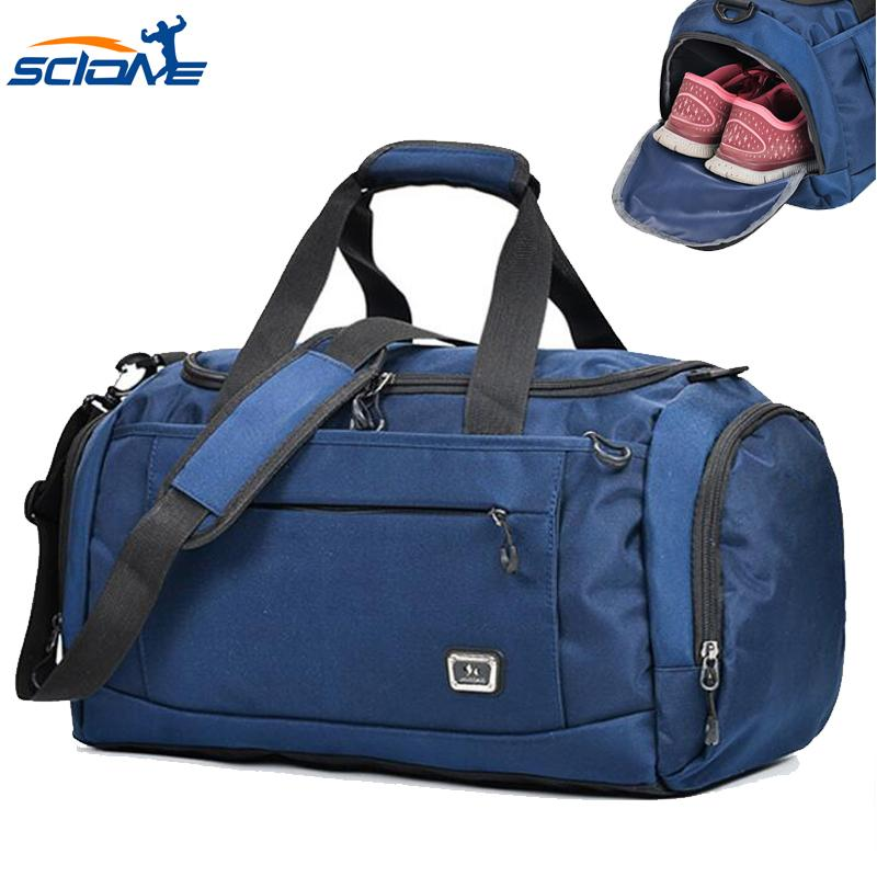 Scione Hot Top Nylon Outdoor Unisex portable Waterproof Sports Gym Bags for Fitness Training Yoga Bolsa Sac De Sport