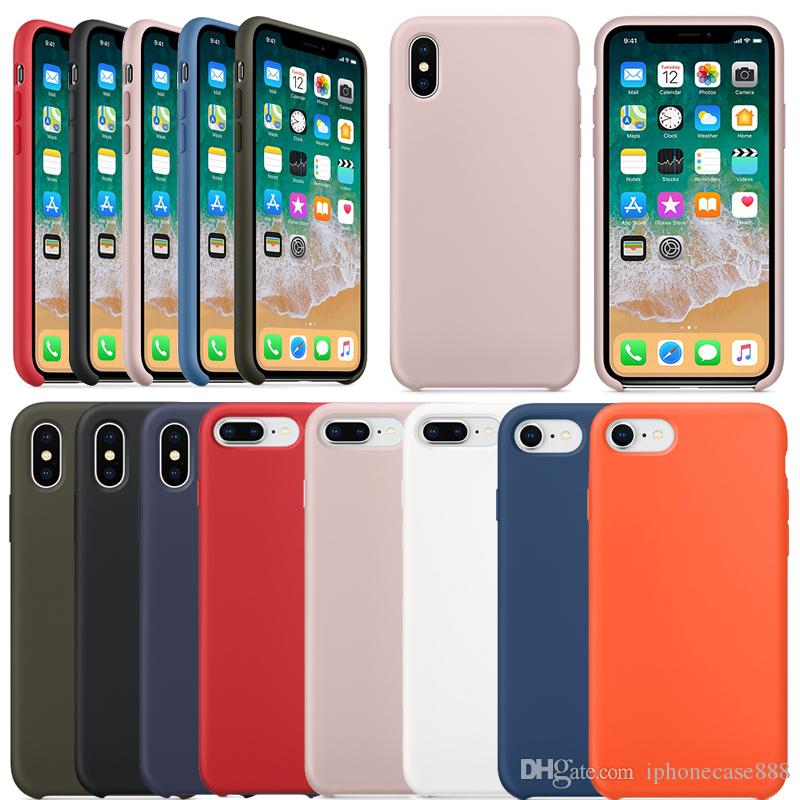 iphone xs silicone case with apple logo