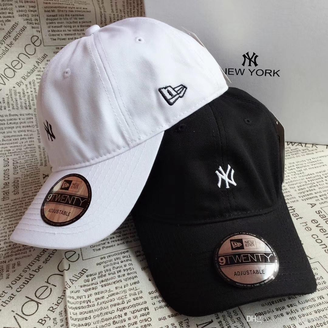 24827386 2018 New summer NY baseball cap Japan version soft top hat embroidered with  adjustable metal button-down cap
