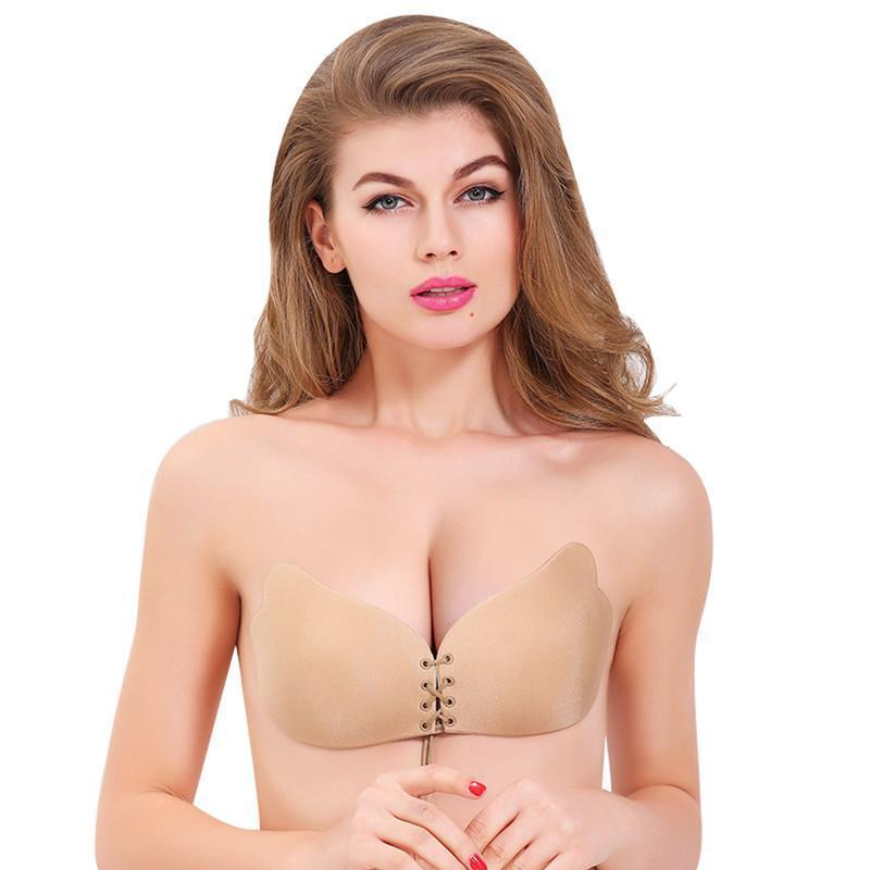 9339df6a0419b Seamless Invisible Bra Adhesive Silicone Backless Bralette Strapless Push  Up Bra Sexy Lingerie Fly Bra Women Underwear Fashion Online with   38.87 Piece on ...