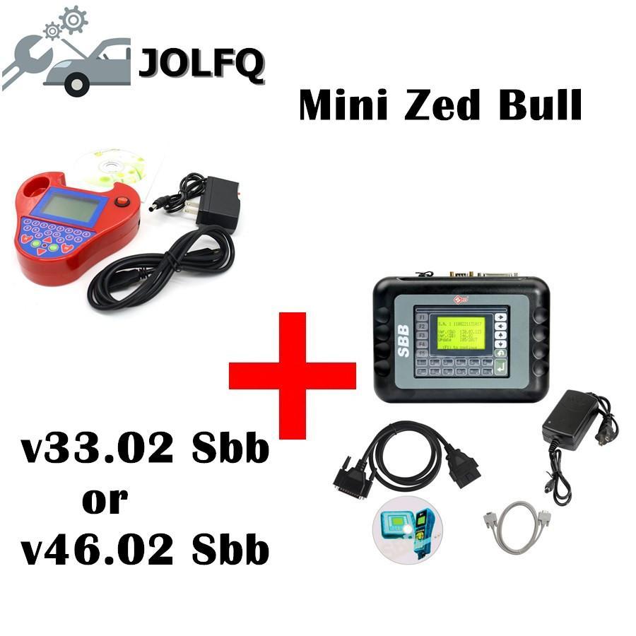2018 Full set v33 02 or V46 02 silca SBB + Mini Zedbull Key Programmer red  color Mini Zed-bull Key Transponder key programmer