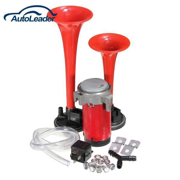 Freeshipping Super Loud 12v Dual Trumpet Air Horn Compressor Kit Train on 12v dc air conditioner, 12v motor, 12v air pump, gas compressor, 12v air conditioners for vehicles, rubber hose for compressor, 12v air conditioning system, refrigerator compressor,