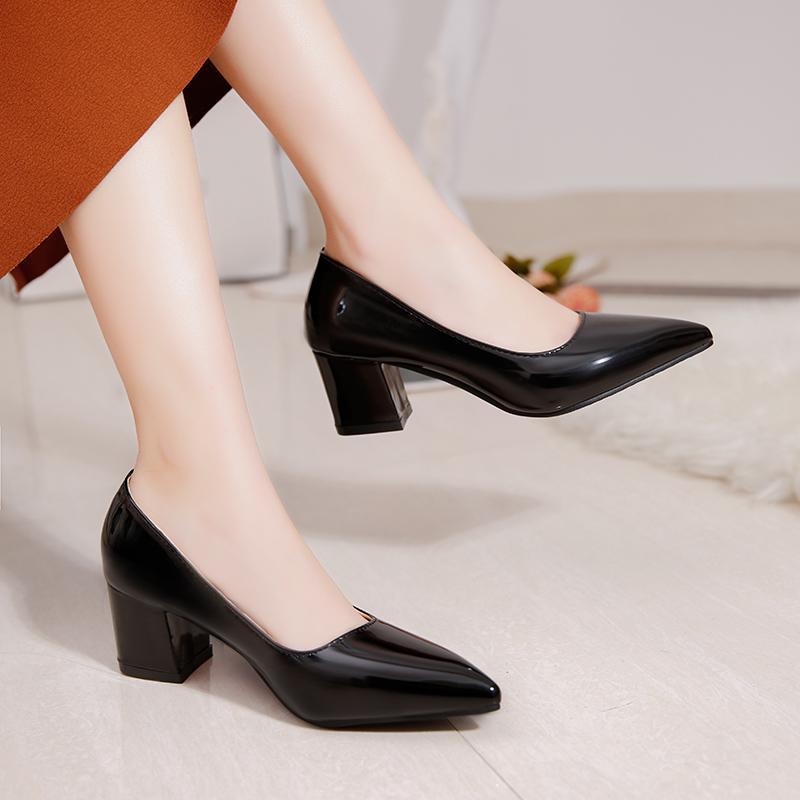 afd0c3dee4166 Compre Tallas Grandes 34 43 Zapatos De Vestir De Mujer Punta Estrecha  Bombas De Tacón Alto Bombas De Tacón Alto Zapato De Charol Para Mujer  Zapatos De Mujer ...